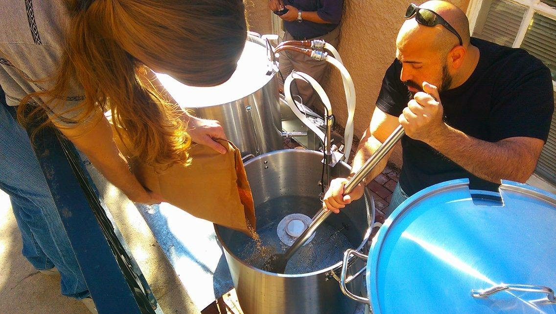 Carlos Guzman and Jason Baca Brewing Beer